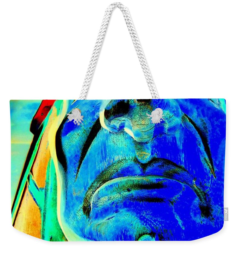 Pop Art Weekender Tote Bag featuring the photograph Proud Face by Ed Weidman