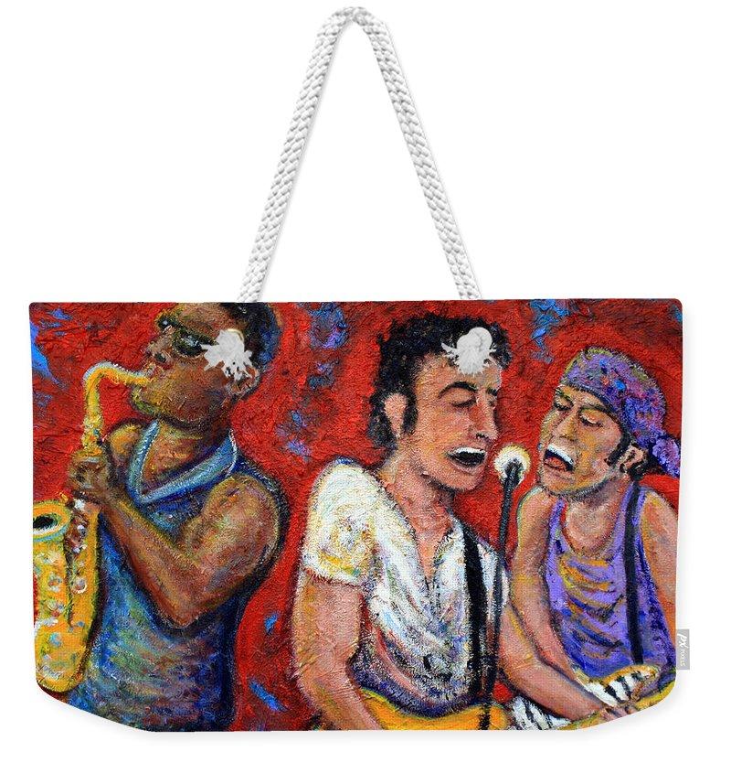 Music Rock N Roll The Boss Weekender Tote Bags