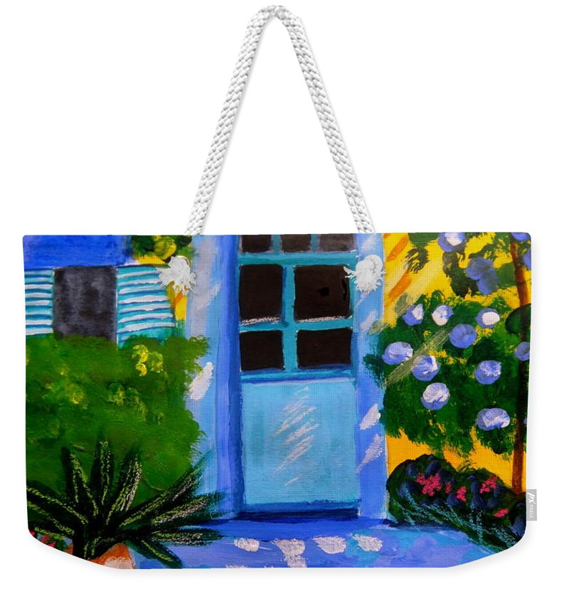 Provence Weekender Tote Bag featuring the painting Provence garden by Rusty Gladdish