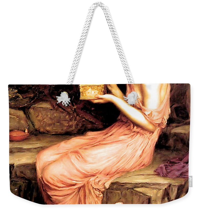 John Weekender Tote Bag featuring the painting Psyche Opening The Golden Box 1903 by Philip Ralley