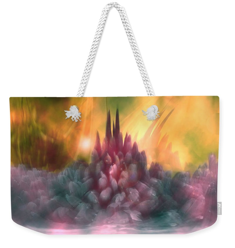Abstract Weekender Tote Bag featuring the digital art Psychedelic Tendencies  by Linda Sannuti
