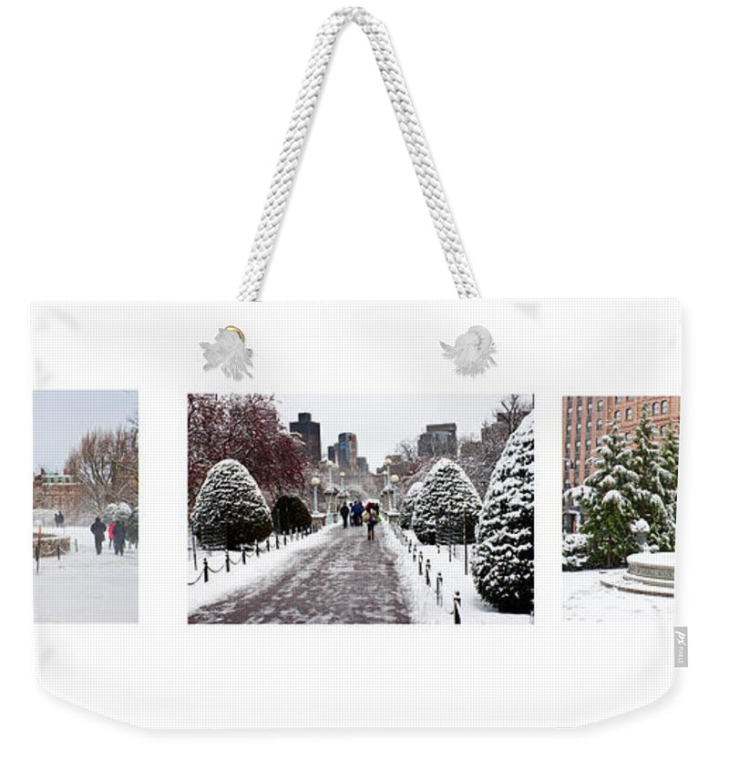 Americana Weekender Tote Bag featuring the photograph Public Garden Triptych by Thomas Marchessault