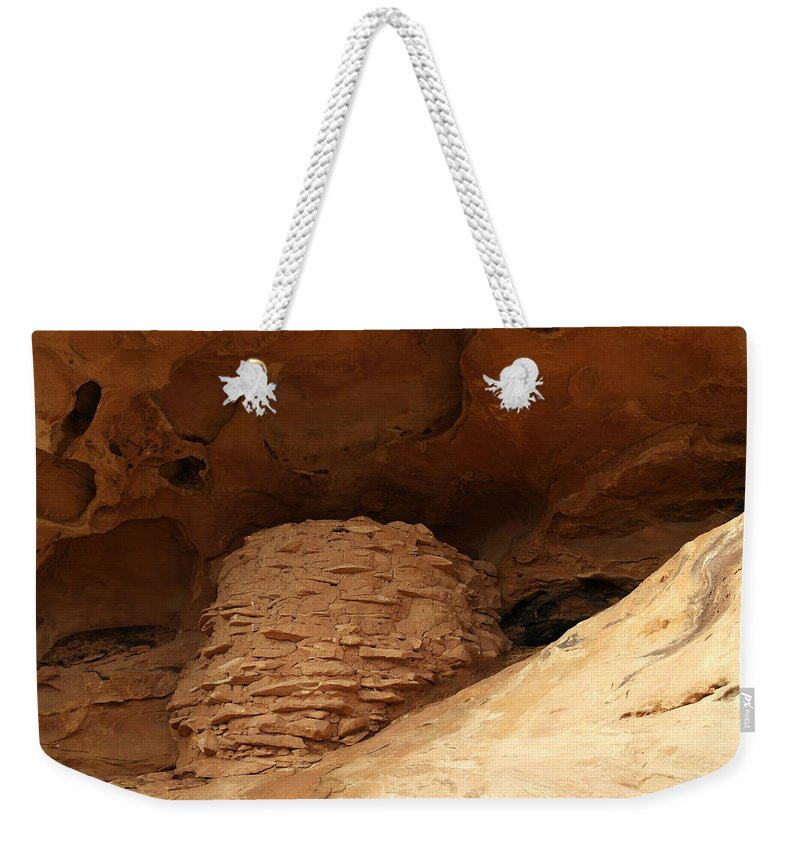 Ruins Weekender Tote Bag featuring the photograph Pueblo Indian Ruins by Jeff Swan