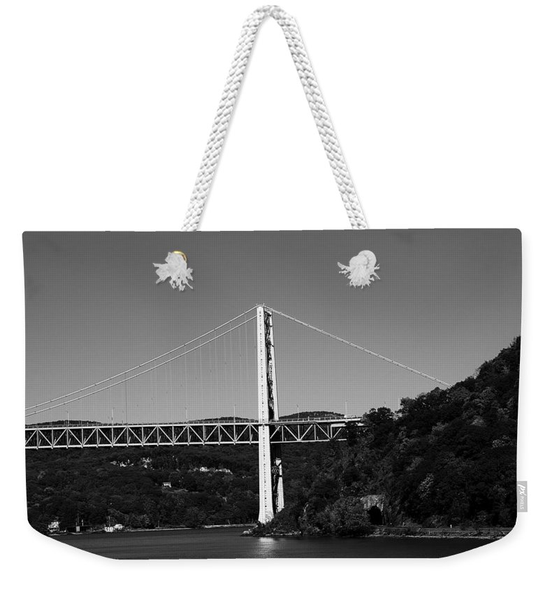Hudson Weekender Tote Bag featuring the photograph Puente II Bw by Pablo Rosales