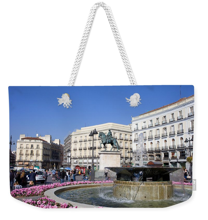 Monument Weekender Tote Bag featuring the photograph Puerta Del Sol In Madrid by Artur Bogacki