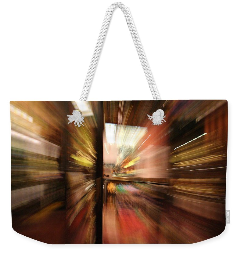Abstract Weekender Tote Bag featuring the photograph Pull by Ric Bascobert