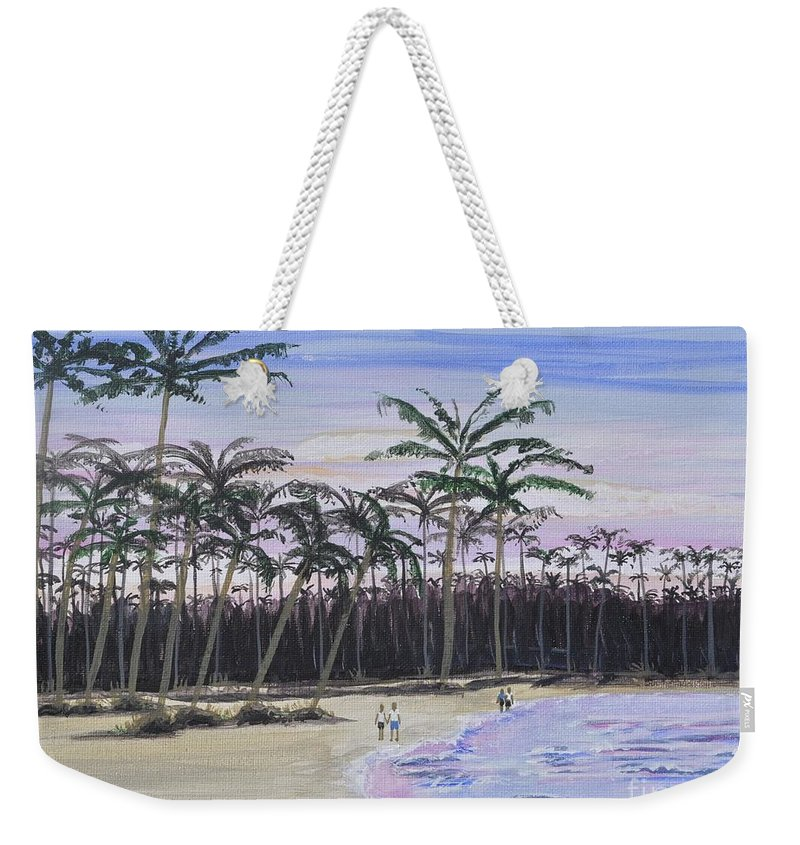Punta Cana Weekender Tote Bag featuring the painting Punta Cana Getaway by Sally Rice