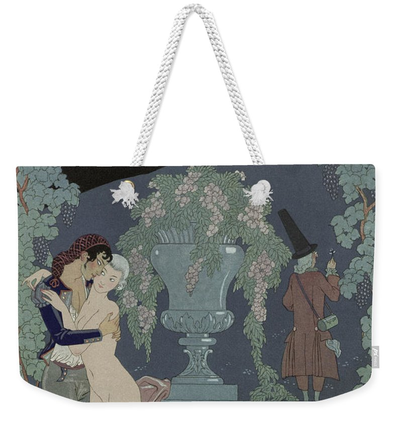 Fantoches Weekender Tote Bag featuring the painting Puppets by Georges Barbier