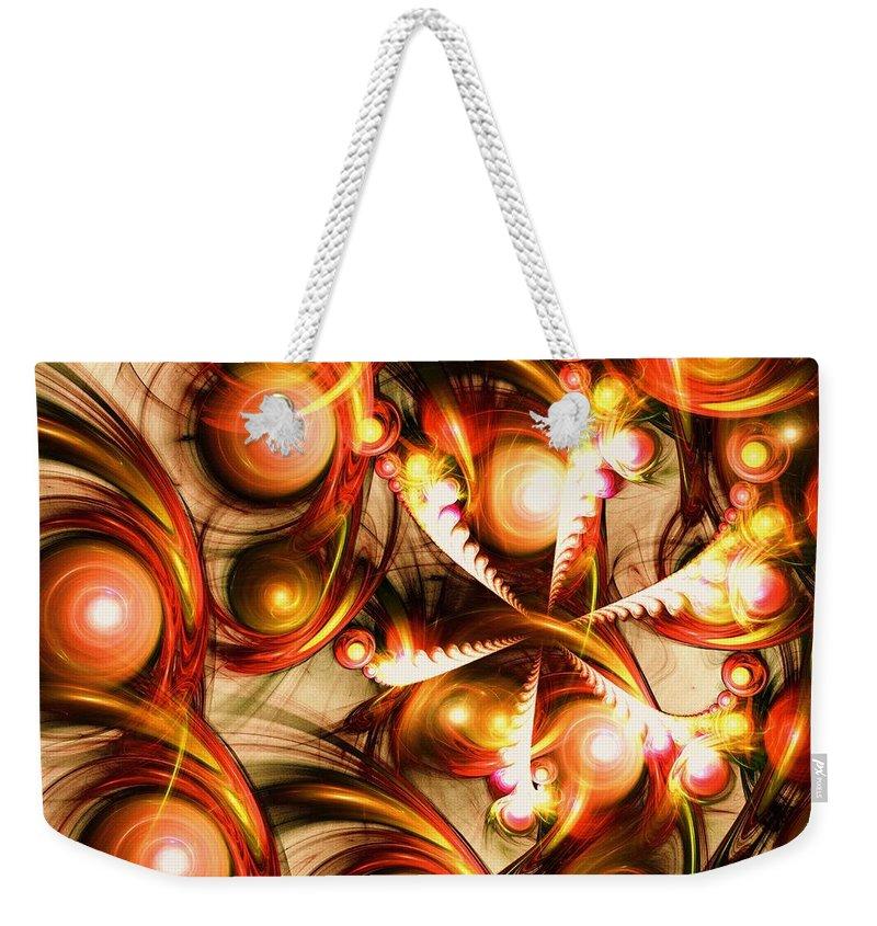 Computer Weekender Tote Bag featuring the digital art Pure Energy by Anastasiya Malakhova