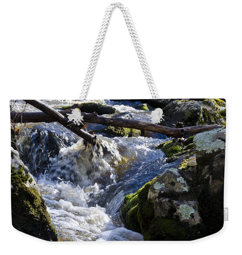 Pure Weekender Tote Bag featuring the photograph Pure Mountain Stream by Bill Cannon