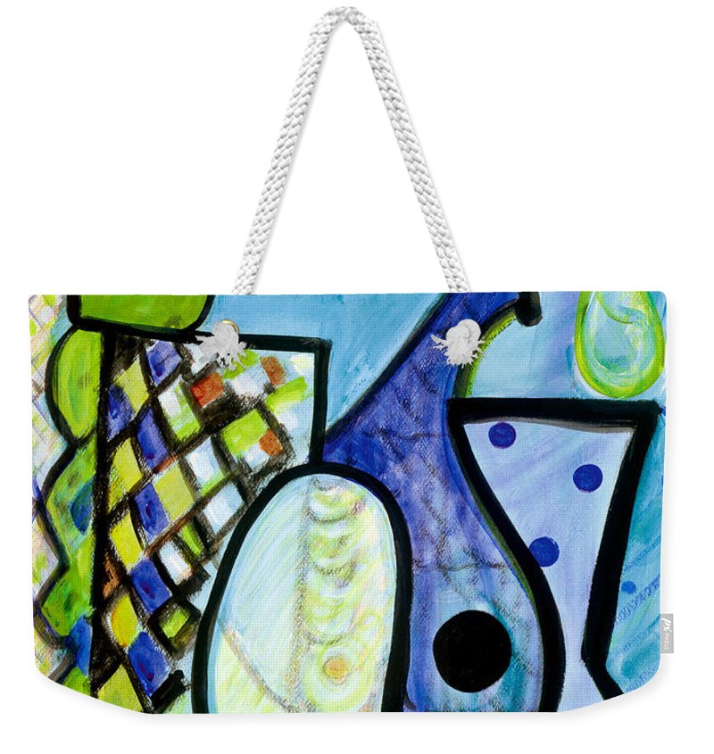 Abstract Art Weekender Tote Bag featuring the painting Pure Perfection by Stephen Lucas