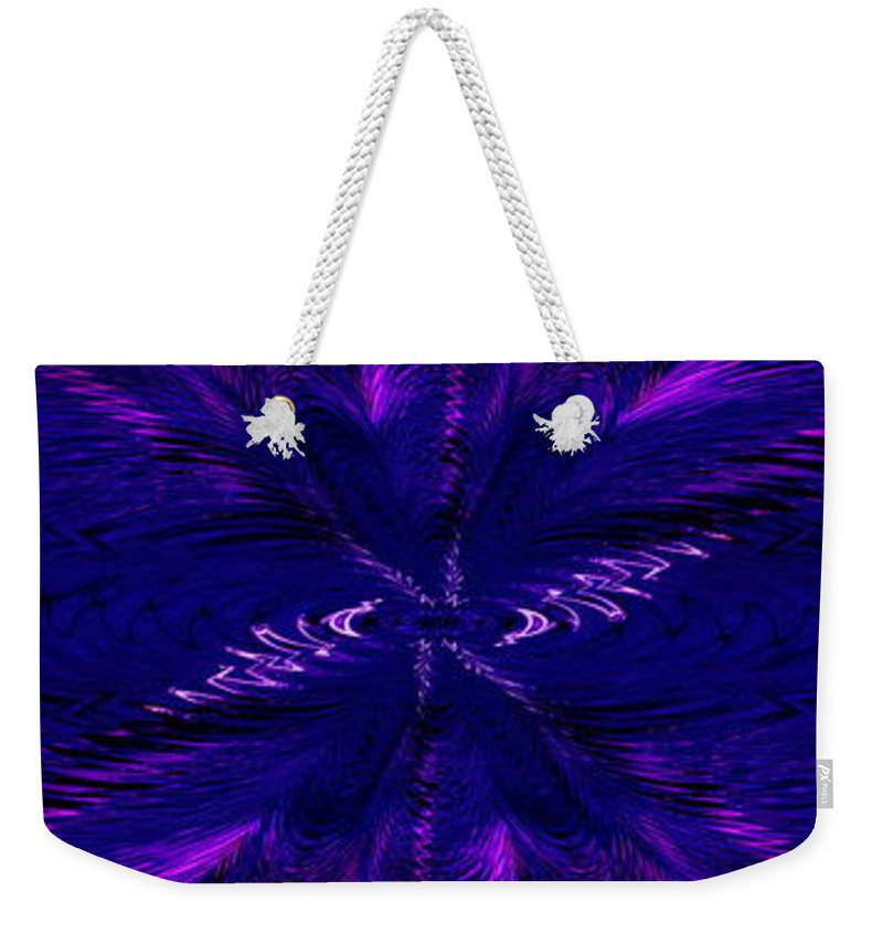 Purl Weekender Tote Bag featuring the digital art Purl In Purple by Tim Allen