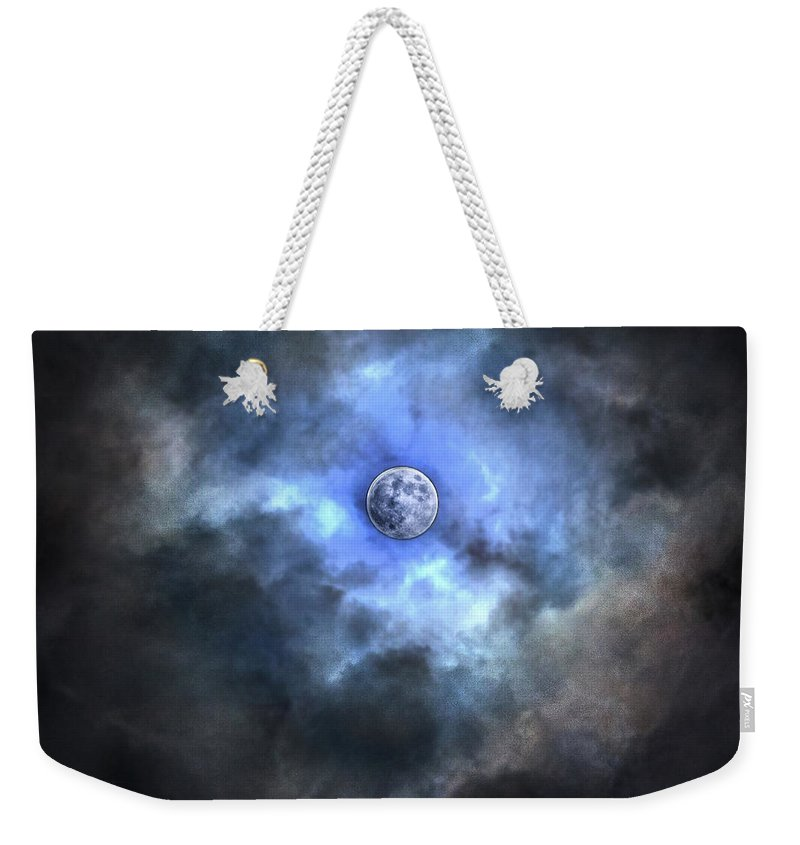 Tranquility Weekender Tote Bag featuring the photograph Purnama by Jemang Images