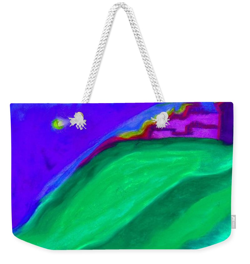 Castle Weekender Tote Bag featuring the painting Purple Castle By Jrr by First Star Art