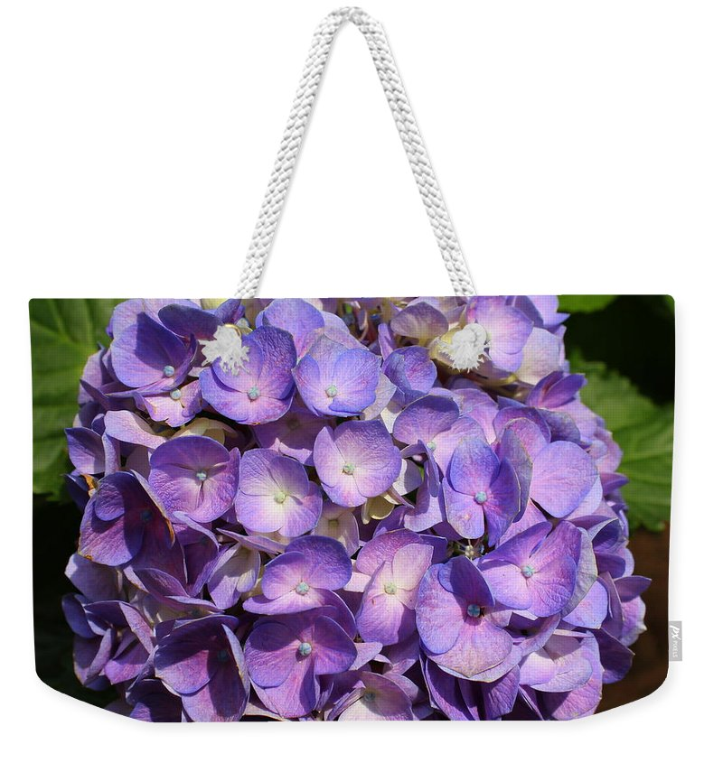Purple Weekender Tote Bag featuring the photograph Purple Flowers by Shannon Louder
