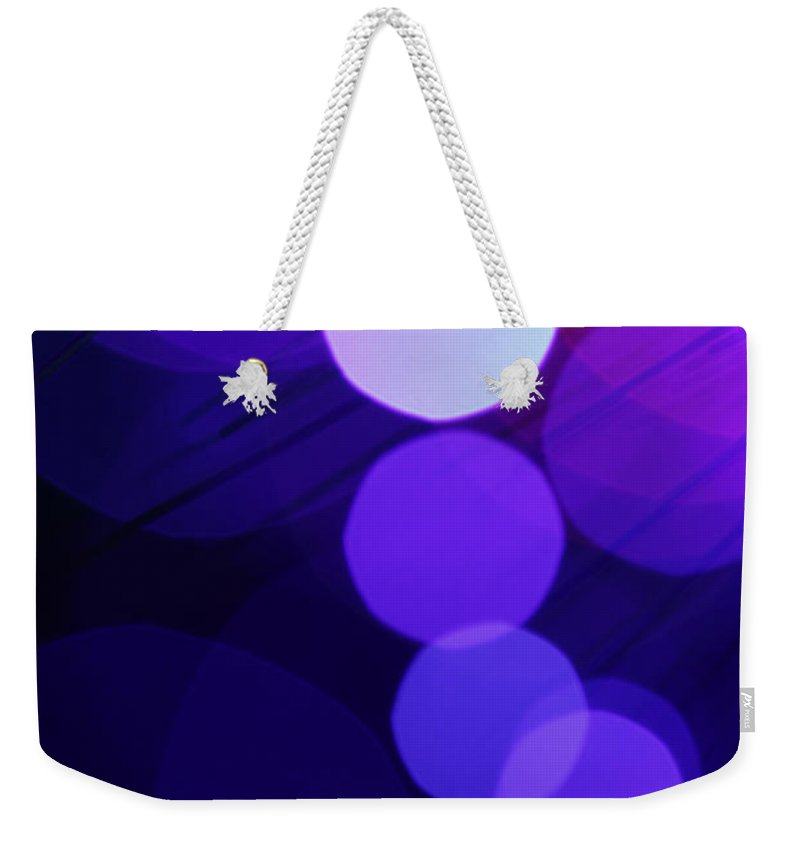 Abstract Weekender Tote Bag featuring the photograph Purple Haze by Dazzle Zazz