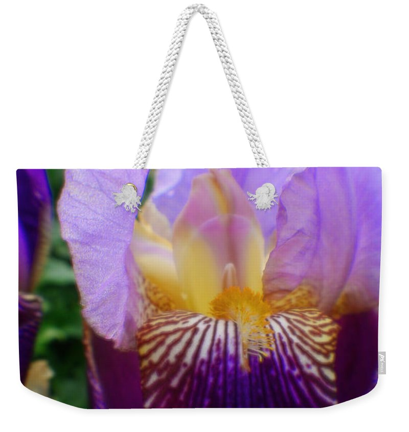 Garden Weekender Tote Bag featuring the photograph Purple Haze by Doc Braham