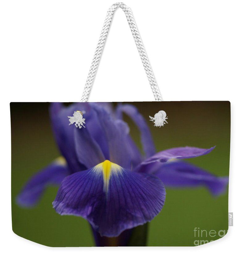 Purple Weekender Tote Bag featuring the photograph Purple Iris 6 by Carol Lynch