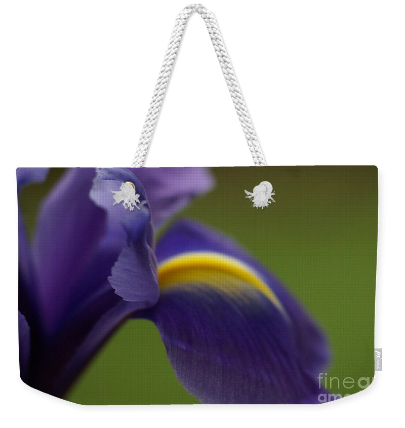 Purple Weekender Tote Bag featuring the photograph Purple Iris 9 by Carol Lynch