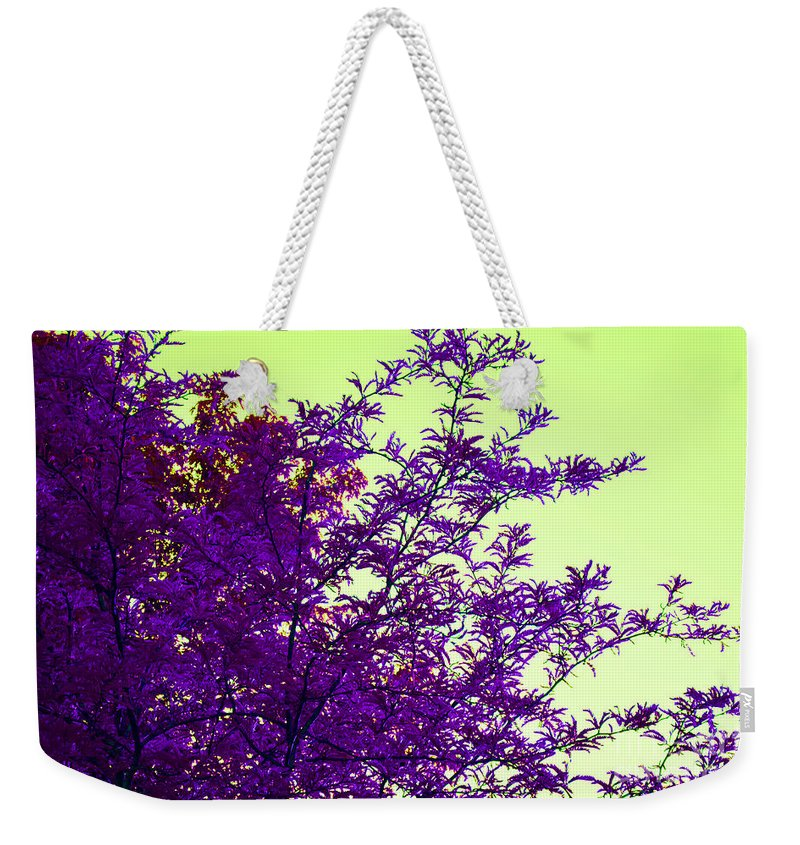 Digital Weekender Tote Bag featuring the digital art Purple Morning by Alys Caviness-Gober