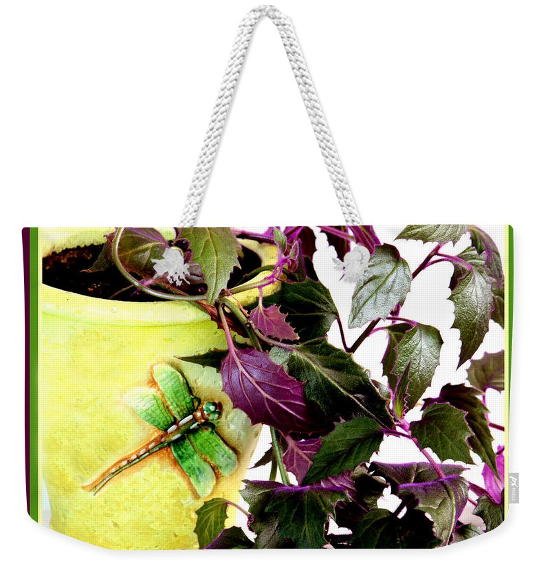 Purple Passion Weekender Tote Bag featuring the photograph Purple Passion In The Sunshine by Barbara Griffin