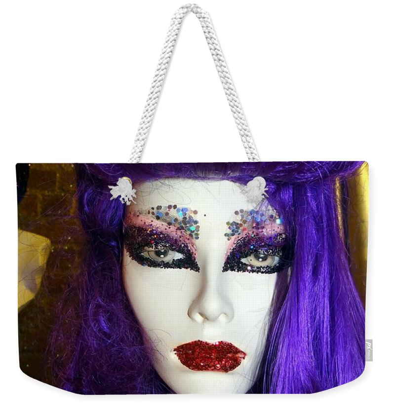 Mannequins Weekender Tote Bag featuring the photograph Purple Princess by Ed Weidman