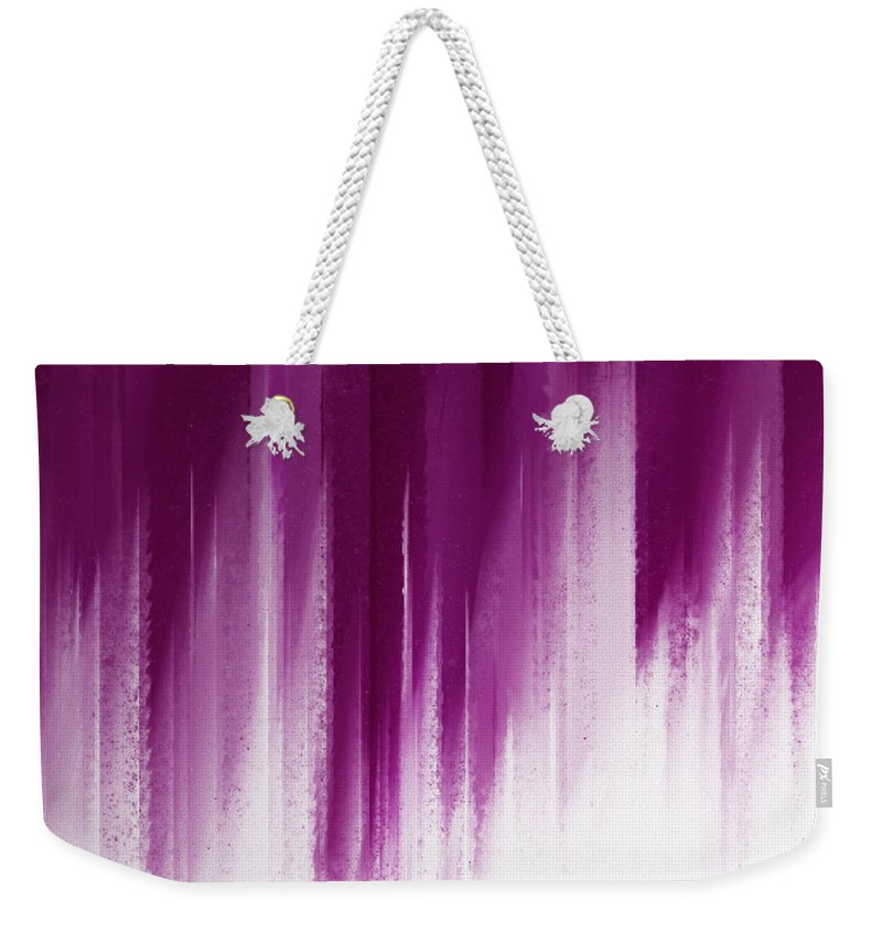 Andee Design Abstract Weekender Tote Bag featuring the digital art Purple Rain by Andee Design
