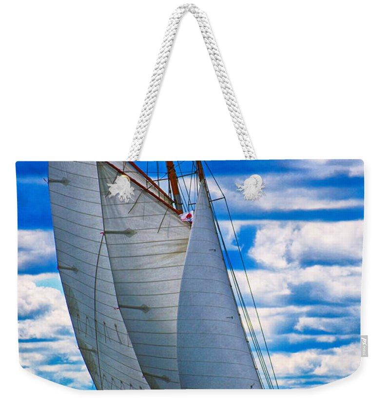 Sail Weekender Tote Bag featuring the photograph Pushing Through by Joe Geraci