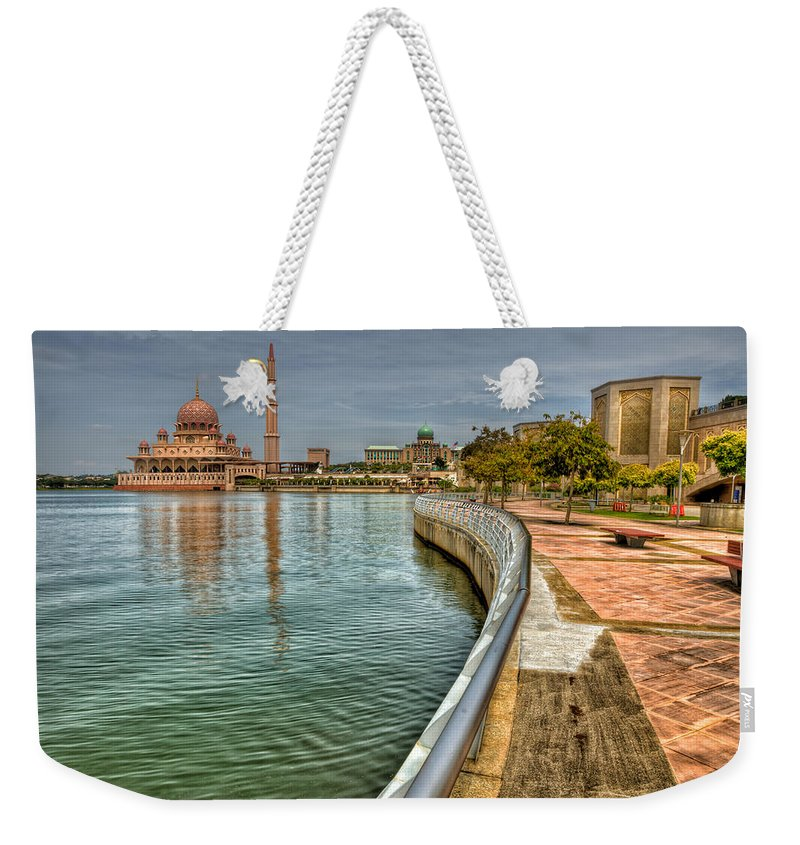 Mosque Weekender Tote Bag featuring the photograph Putra Mosque by Adrian Evans