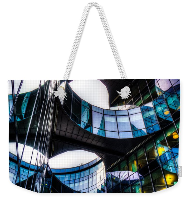 Pwc Weekender Tote Bag featuring the photograph Pwc Building London by David Pyatt