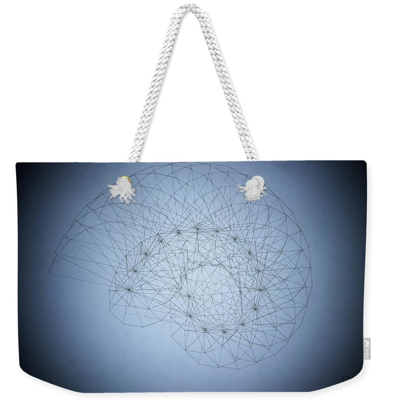 Seashell Weekender Tote Bag featuring the drawing Quantum Nautilus Spotlight by Jason Padgett