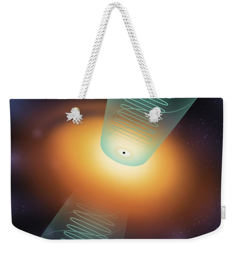 Science Weekender Tote Bag featuring the photograph Quasar, Illustration by Gwen Shockey