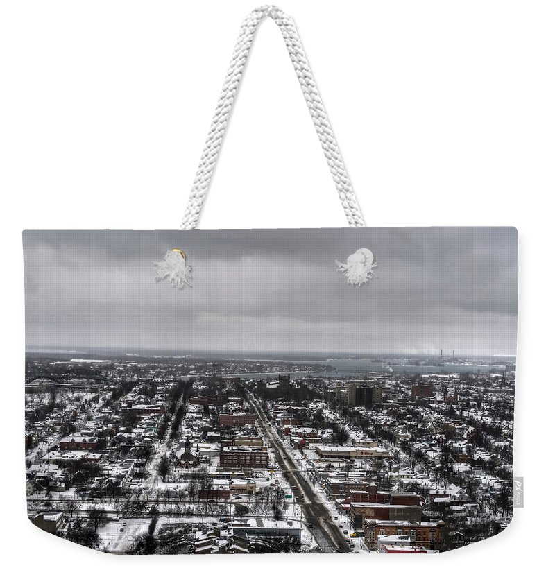 Buffalo Weekender Tote Bag featuring the photograph Queen City Winter Wonderland After The Storm Series 0010 by Michael Frank Jr
