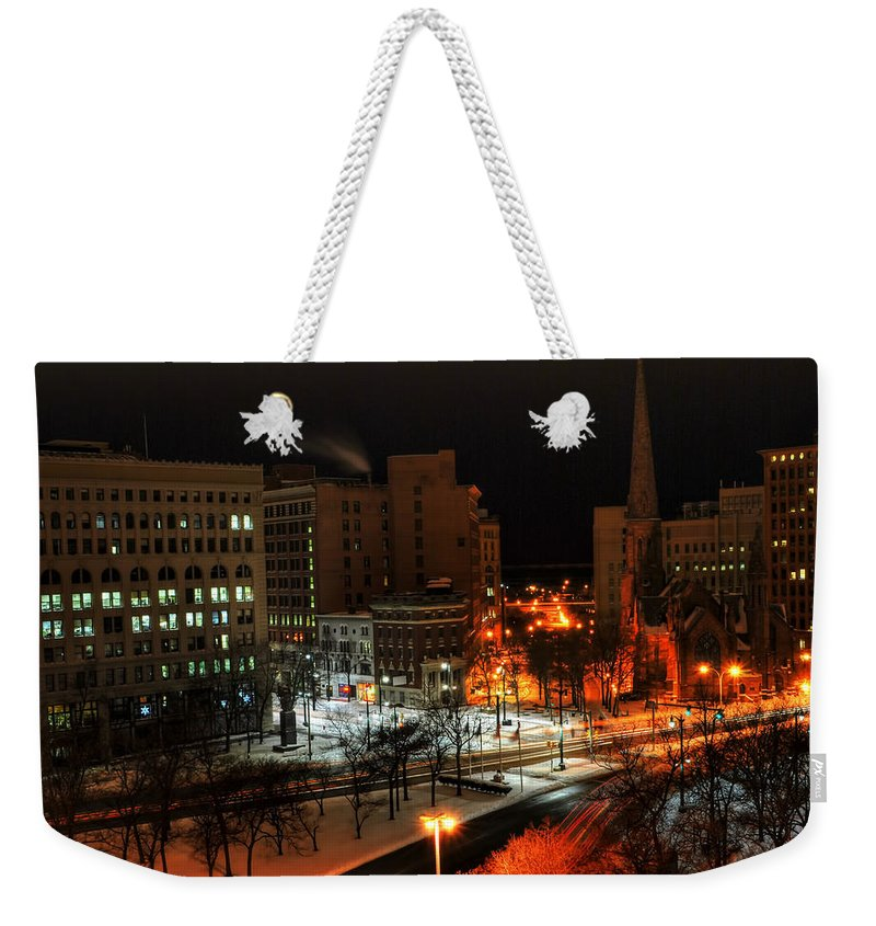 Buffalo Weekender Tote Bag featuring the photograph Queen City Winter Wonderland After The Storm Series 0015 by Michael Frank Jr