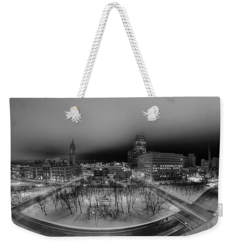 Buffalo Weekender Tote Bag featuring the photograph Queen City Winter Wonderland After The Storm Series 0019 by Michael Frank Jr