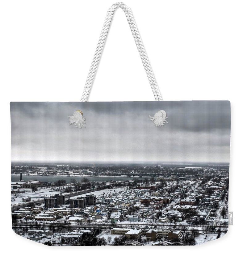 Buffalo Weekender Tote Bag featuring the photograph Queen City Winter Wonderland After The Storm Series 002 by Michael Frank Jr