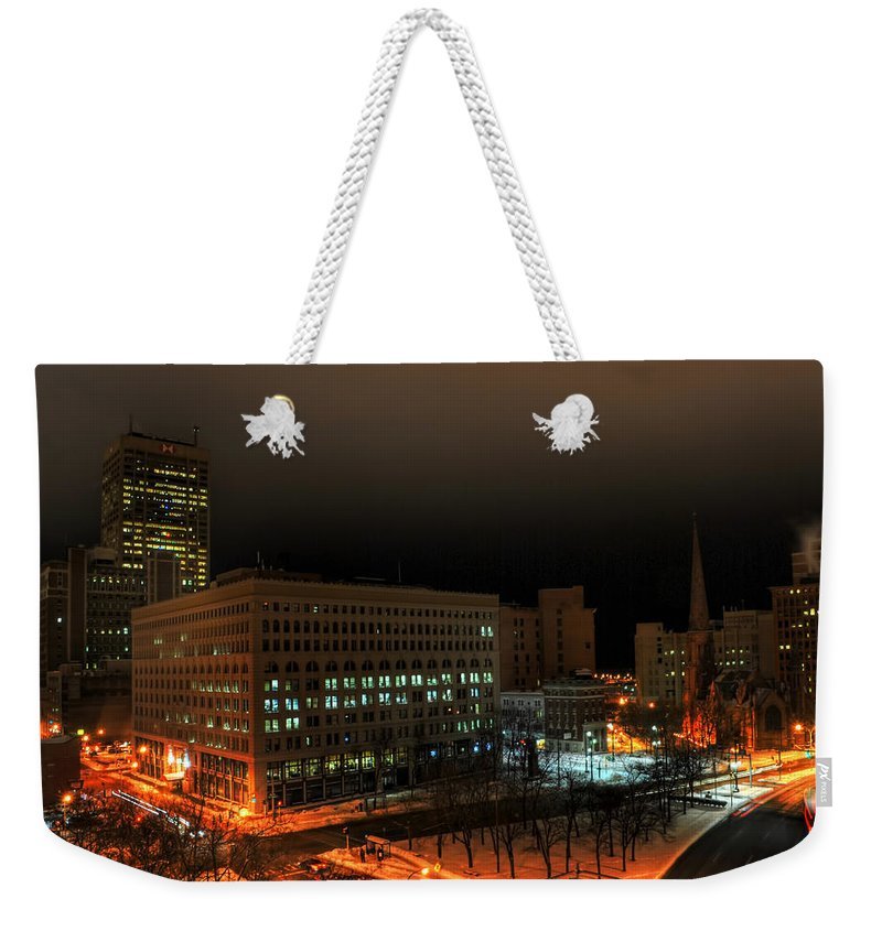 Buffalo Weekender Tote Bag featuring the photograph Queen City Winter Wonderland After The Storm Series 0020 by Michael Frank Jr