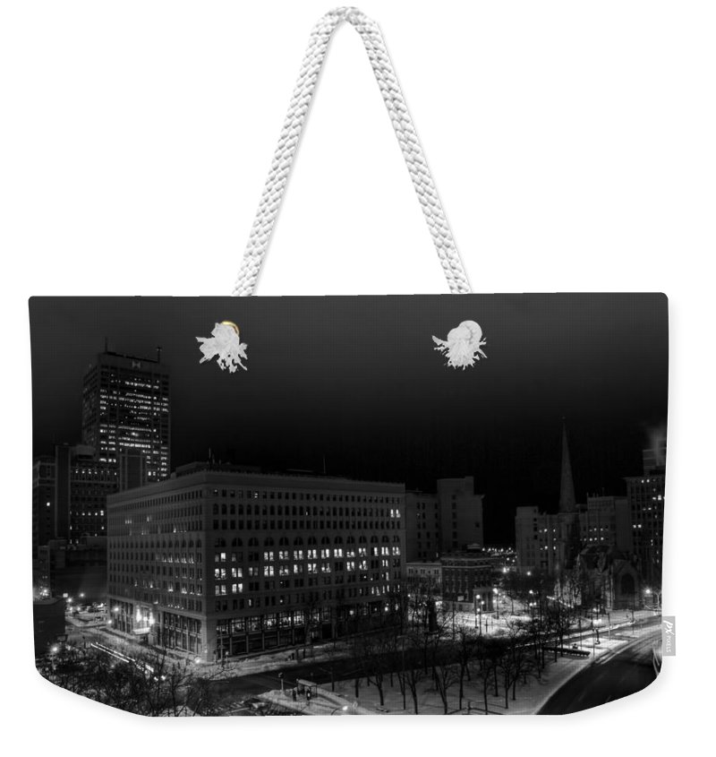 Buffalo Weekender Tote Bag featuring the photograph Queen City Winter Wonderland After The Storm Series 0020a by Michael Frank Jr