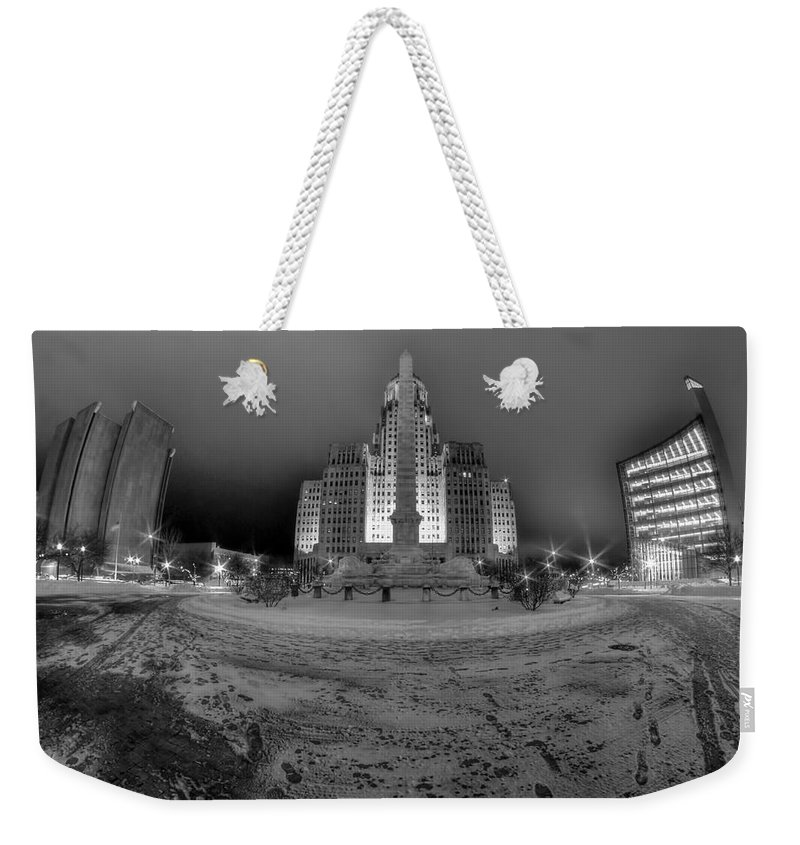Buffalo Weekender Tote Bag featuring the photograph Queen City Winter Wonderland After The Storm Series 0022 by Michael Frank Jr