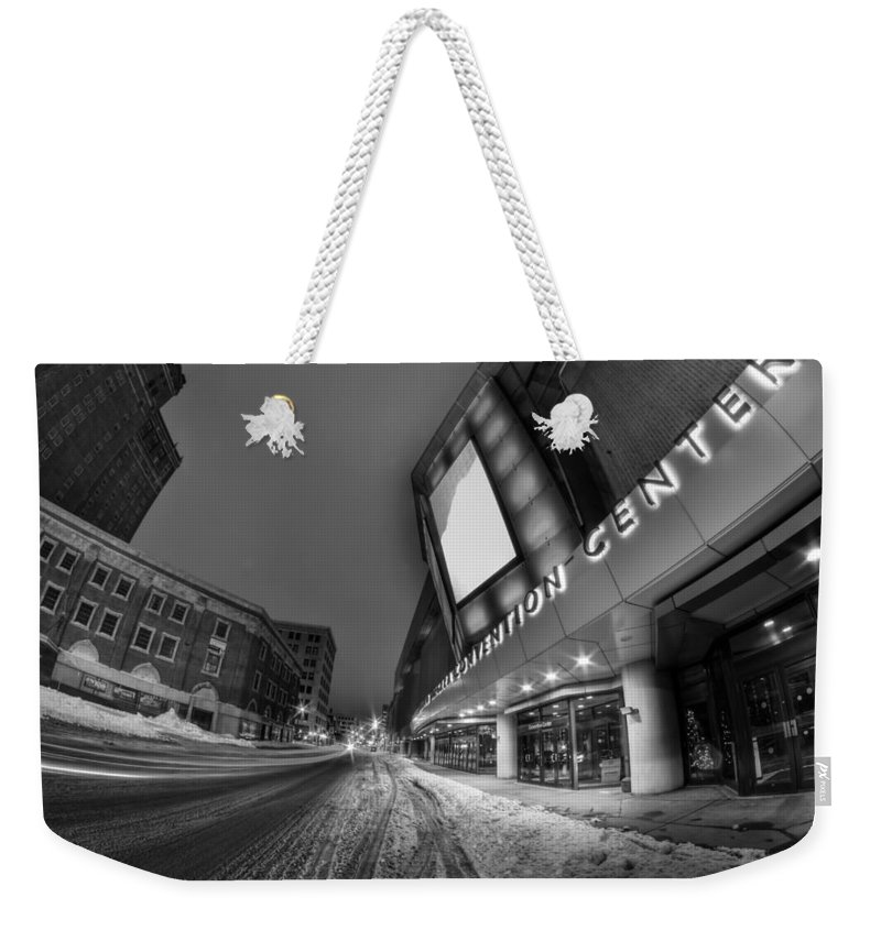 Buffalo Weekender Tote Bag featuring the photograph Queen City Winter Wonderland After The Storm Series 0023a by Michael Frank Jr
