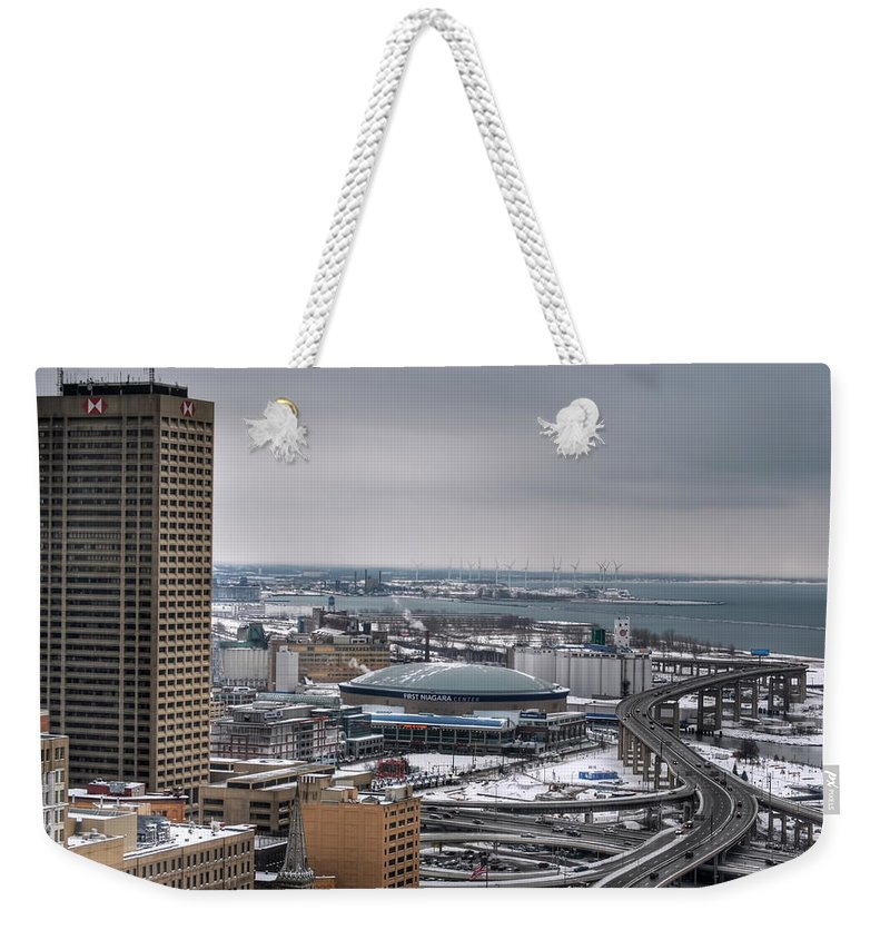 Buffalo Weekender Tote Bag featuring the photograph Queen City Winter Wonderland After The Storm Series 0025 by Michael Frank Jr