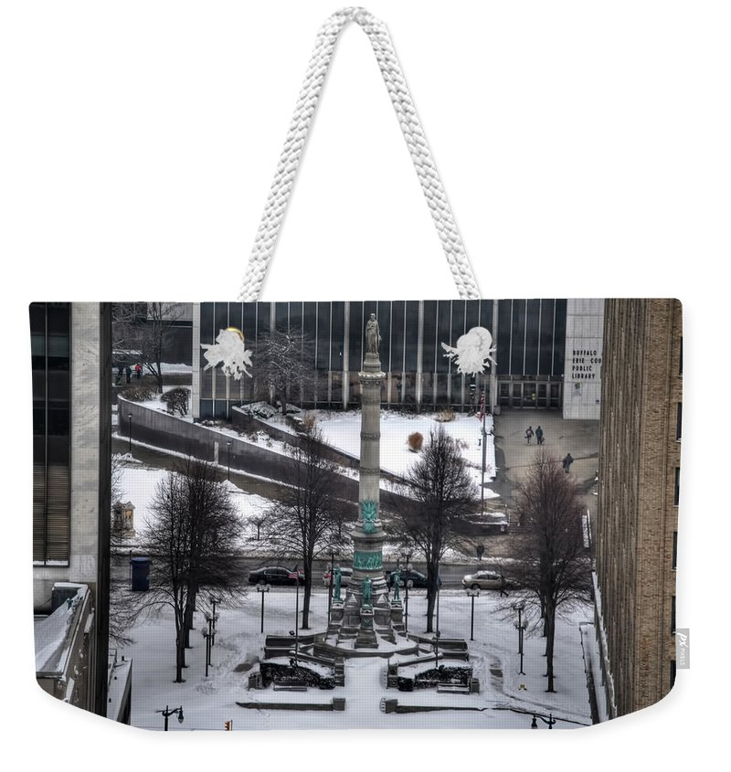 Buffalo Weekender Tote Bag featuring the photograph Queen City Winter Wonderland After The Storm Series 0026 by Michael Frank Jr