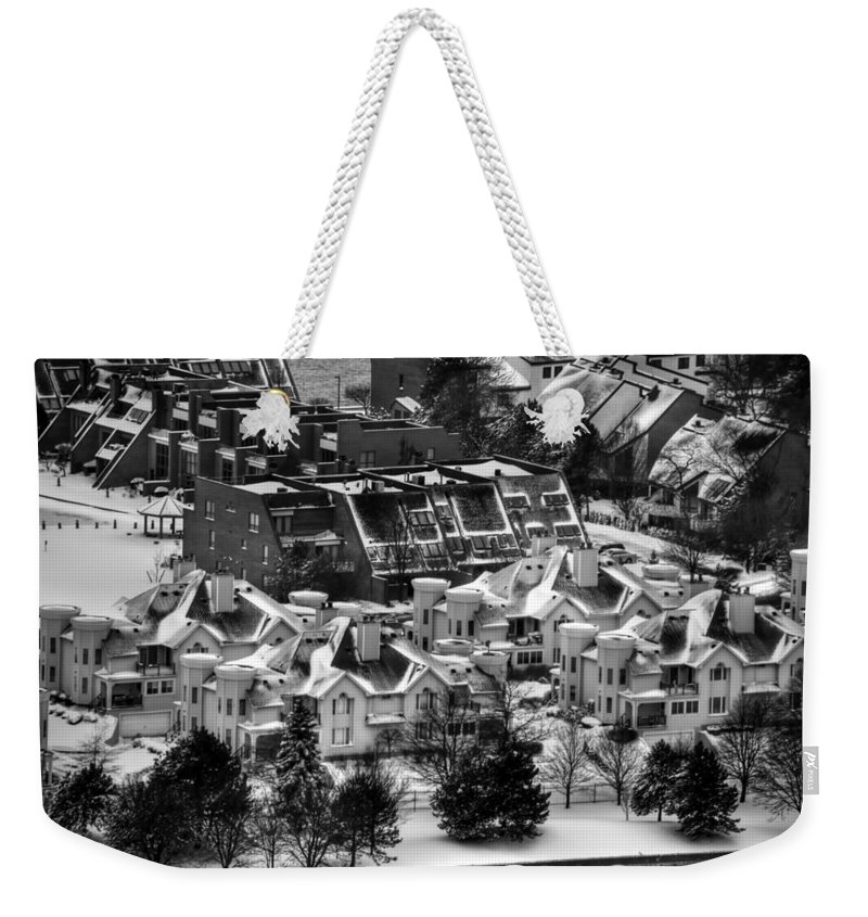 Buffalo Weekender Tote Bag featuring the photograph Queen City Winter Wonderland After The Storm Series 0028a by Michael Frank Jr