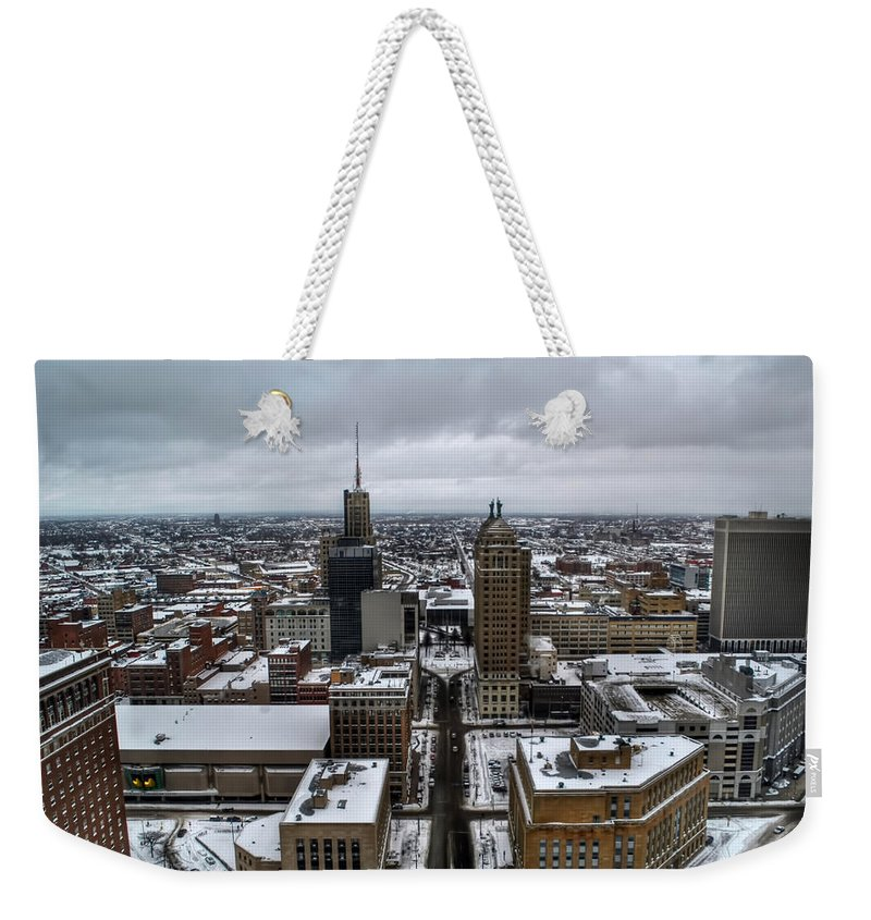 Buffalo Weekender Tote Bag featuring the photograph Queen City Winter Wonderland After The Storm Series 007 by Michael Frank Jr