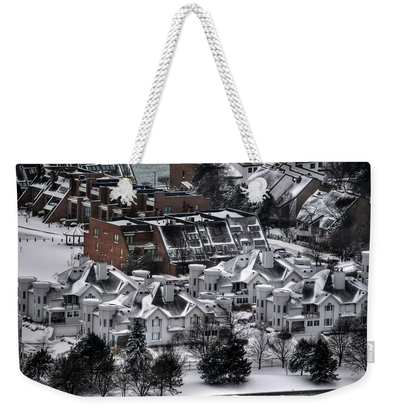 Buffalo Weekender Tote Bag featuring the photograph Queen City Winter Wonderland After The Storm Series0028 by Michael Frank Jr