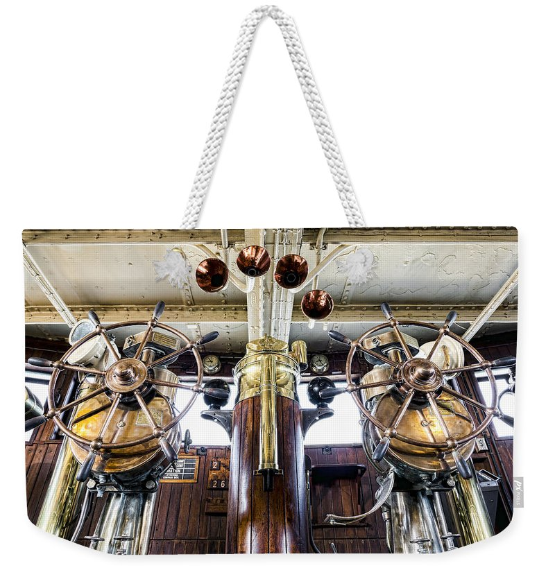 Bridge Weekender Tote Bag featuring the photograph Queen Mary Bridge by Kelley King