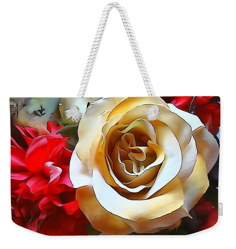 Bouquet Weekender Tote Bag featuring the photograph Queen Of The Bouquet by Annie Adkins