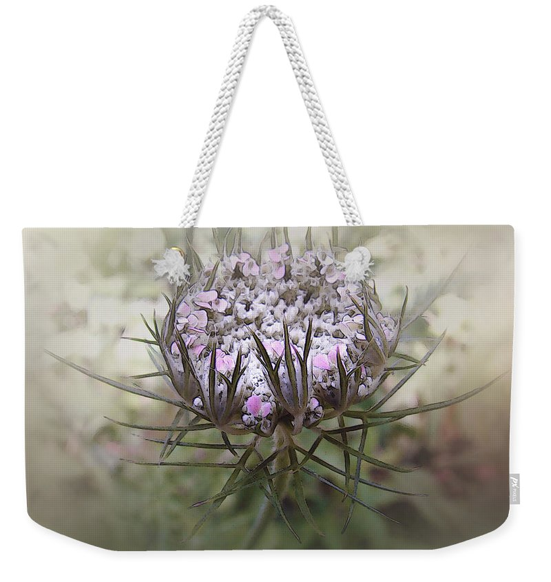 Queen Anne's Lace Weekender Tote Bag featuring the digital art Queen Of The Mist by RC DeWinter
