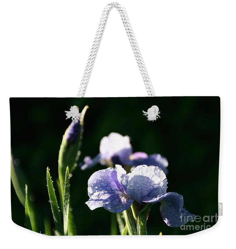 Flower Weekender Tote Bag featuring the photograph Quenched Overnight by Susan Herber