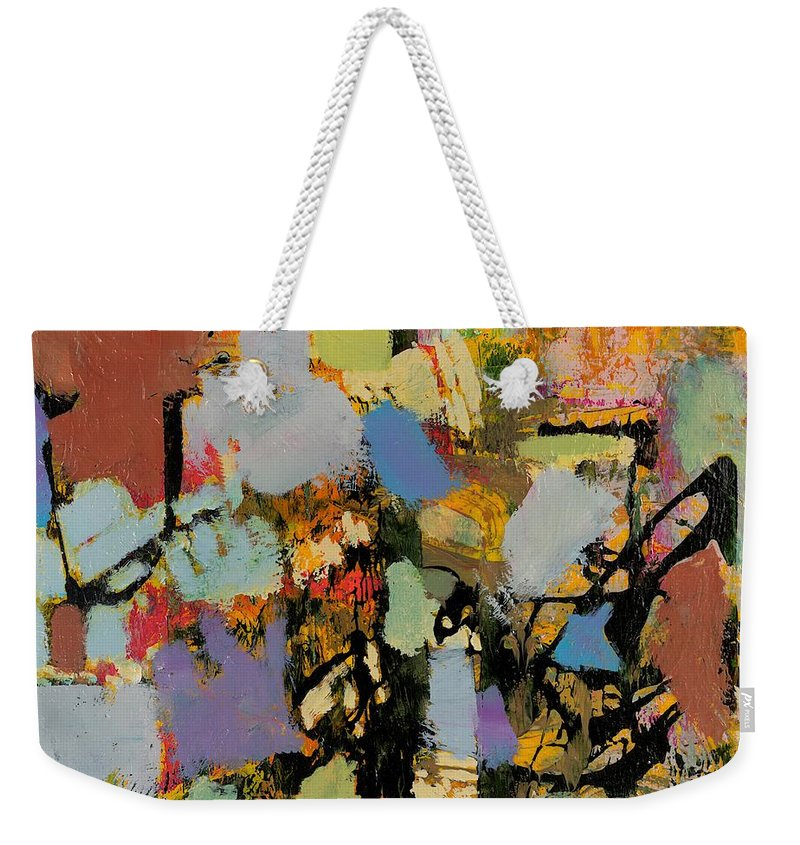 Landscape Weekender Tote Bag featuring the painting Quick Racing by Allan P Friedlander